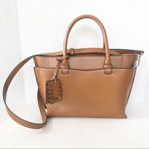 NWOT Zara City bag w Crossbody Strap & Top Handles